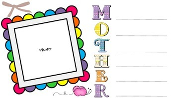 Family Acrostic Poems + Photo Frames