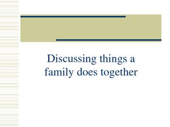 Family Activities