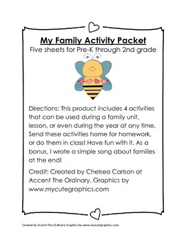 Family Activity Packet
