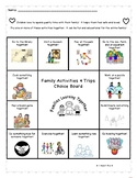Family Activities and Trips Choice Board