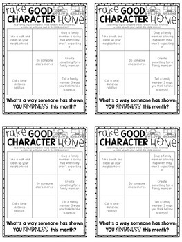 Family Activity Sheets on Character Education