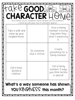 Family Activity Sheets on Character Education by Dr Nation's Education