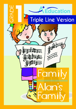 Family - Alan's Family - Grade 1 (with 'Triple-Track Writi