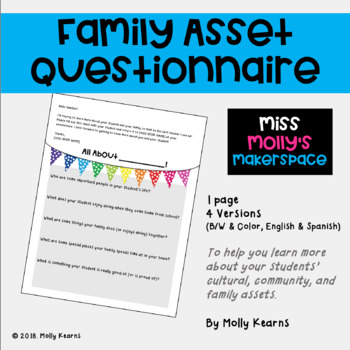 Family Asset Questionnaire (English & Spanish Versions)