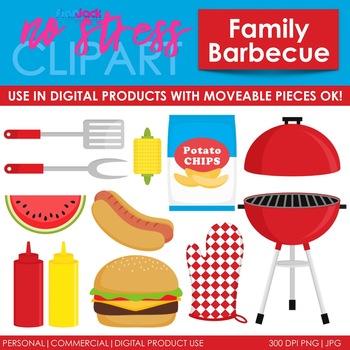 Family Barbecue Clip Art (Digital Use Ok!)