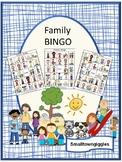 Family Bingo Special Education Activity, Printable BINGO Games P-K, K, Autism
