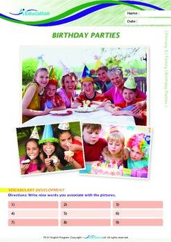 Family - Birthday Parties - Grade 5