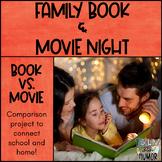 Family Book & Movie Night - Take Home Book Movie Comparison