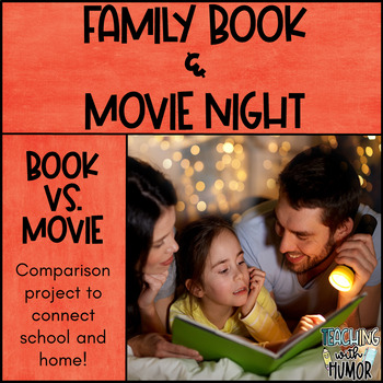 Family Book & Movie Night - Take Home Book Movie Comparison