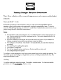 Personnel Finance: Family Budget Project