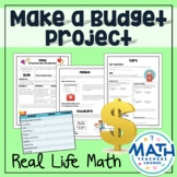 Make a Budget - Real Life Math Project Based Learning PBL