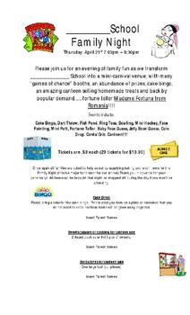 Family Carnival Night Fundraiser