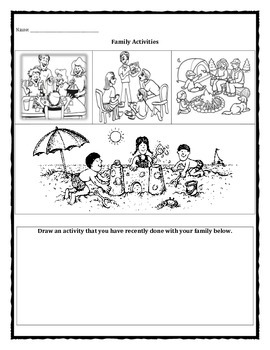 Family Change Activities worksheet