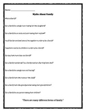 Family Change Myth worksheet