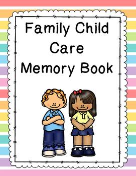Family Child Care Memory Book
