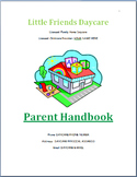 Family Childcare Basic Parent Handbook Template