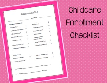Family Childcare Enrollment Checklist