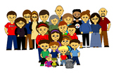 People Clip Art - Adults, kids, teenagers, babies, and a c