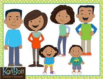 Family Clip Art - African American