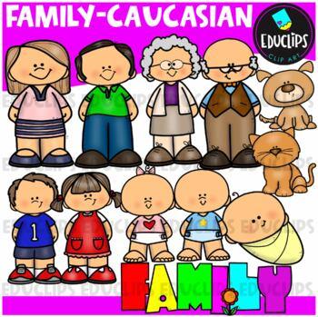 Family Clip Art Bundle {Educlips Clipart}