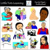 Family Clip Art - Multicultural - Family Scenes Clip Art