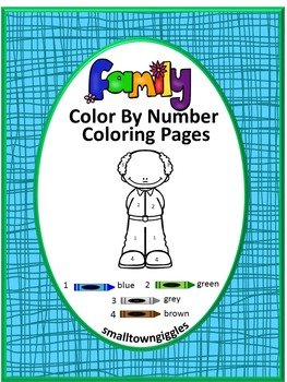 Family Color by Number, Mother's Day, Fine Motor Skills, Special Education