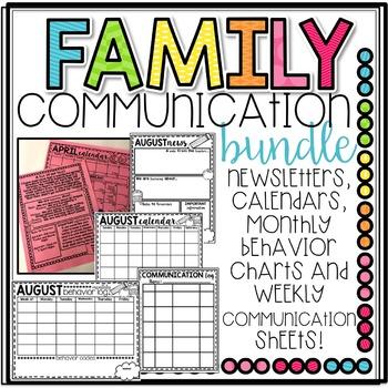 Family and Parent Communication Bundle