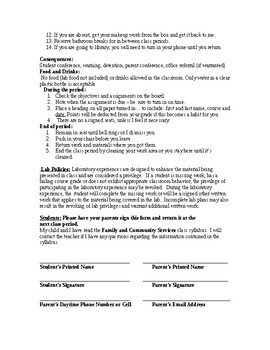 Family & Community Services Syllabus
