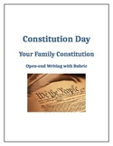Family Constitution Open-ended Writing for Constitution Day