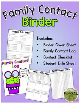 Family Contact Log Binder