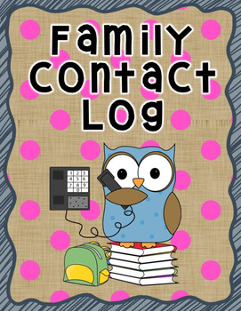 Family Contact Log Free Teacher Form