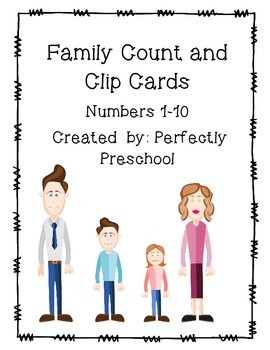 Family Count and Clip Cards {Dollar Deal}
