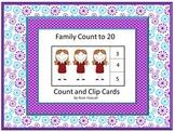 Count and Clip, Family Members, Math Center Kindergarten, Math Center Preschool