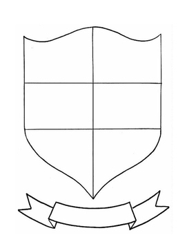 shield template to print - family crest coat of arms by gerald 39 s gems teachers