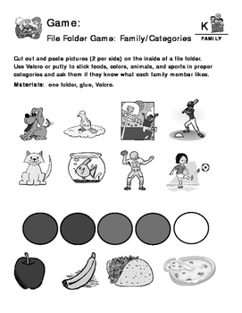Family - Curriculum‐Based Language Enrichment Worksheets & Activities