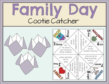 Family Day Cootie Catcher