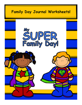 Family Day Journal Poster Activity