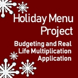 Holiday Dinner Activity: Budgeting and Real Life Multiplication Application