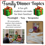 Family Conversation Starter Holiday Gift, Christmas Hanukkah Present for Parents