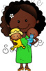 Family Diversity 4. Clipart. BLACK AND WHITE & Color Bundle. {Lilly Silly Billy}