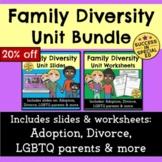 Family Diversity Unit Bundle Divorce Adoption LGBTQ Parents