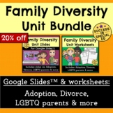 Family Diversity Unit Bundle Google Slides™ Divorce Adopti