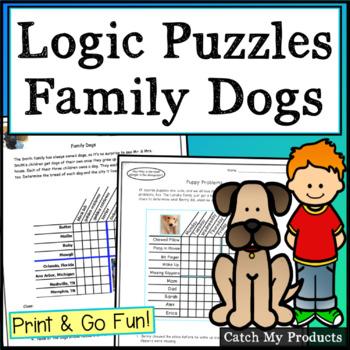 Logic Puzzle (Family Dogs: A Three Grid Matrix)