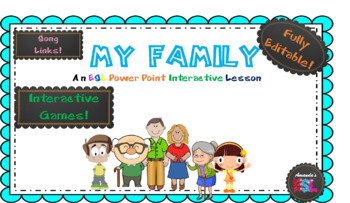 Family - ESL Power Point Interactive Lesson - NO PREP