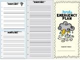 Family Emergency Plan Trifold Disaster Preparedness
