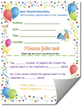 Family Event Invitation Form Template (General)