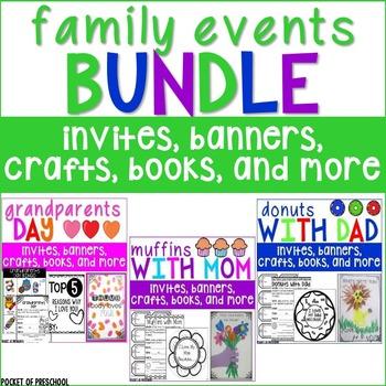 Family Events Bundle for Preschool, Pre-K, and Kindergarten