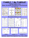 Family FRENCH MEGA Pack (games,worksheets,workbooks,Smartnotebook)