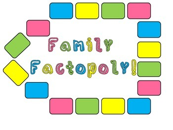 Family Factopoly: A Multiplication and Division Fact Board Game
