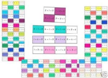 Family Facts - Addition/Subtraction cards